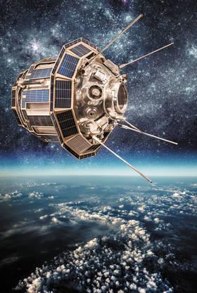 Спутник над землей