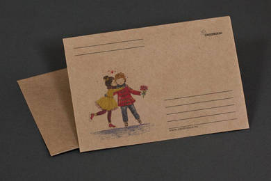Крафт-конверт «Фигуристы»