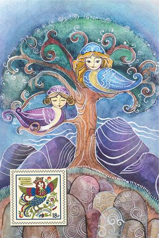 Набор «Райские птицы» (открытка+марка)