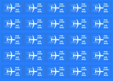 Наклейки «Air mail» (синие)
