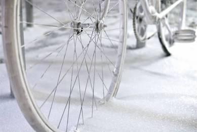 Заснеженный велосипед