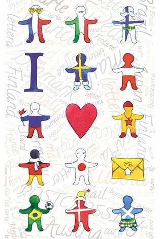 Почтовая открытка «Я люблю посткроссинг» со спецгашением  «Посткроссинг»